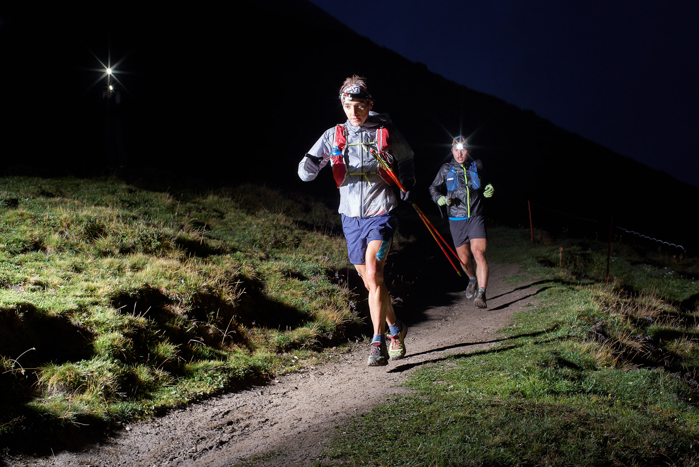 Xavier Thevenard and Zach Miller / UTMB 2018 / Pennine Alps, Switzerland